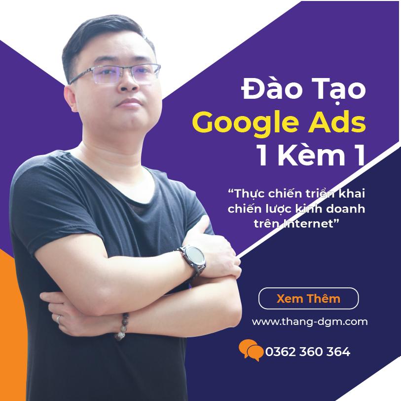 dịch vụ đào tạo google ads 1 kèm 1
